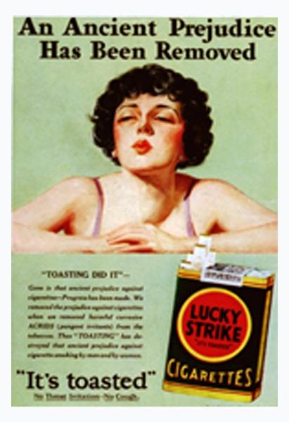 Autre exemple d'affiche pour Lucky Strike
