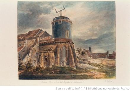 L'église après rénovation pour installer le télégraphe