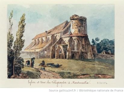 L'Eglise de Montmartre avant le télégraphe