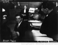 Emile Fradin au tribunal