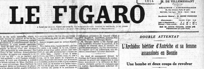 La Une du Figaro (Source: GallicaBnf)