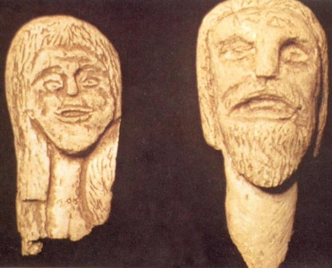 Des sculptures trouvées à Glozel