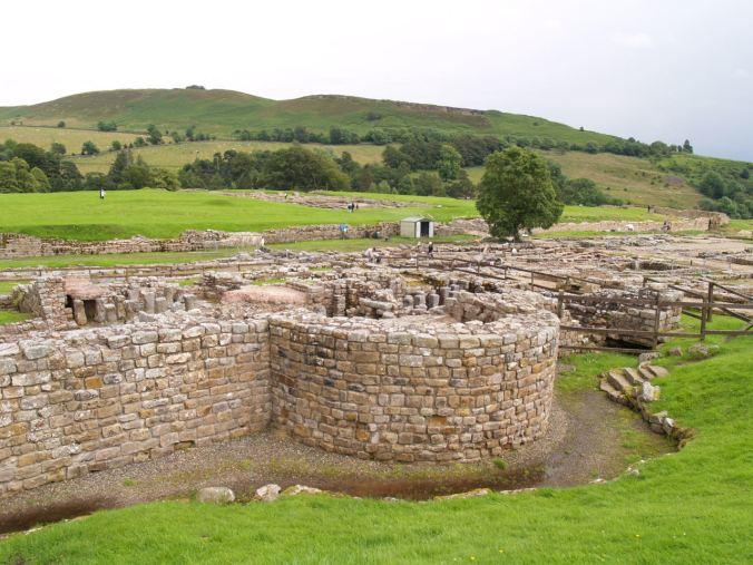 Un des forts sur le mur d'Hadrien, qui fut abandonné en 410