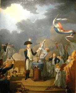 La Fayette prêtant serment