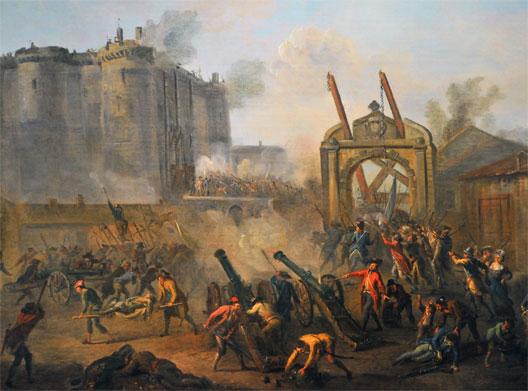 La prise de la Bastille par le peintre Lallemand