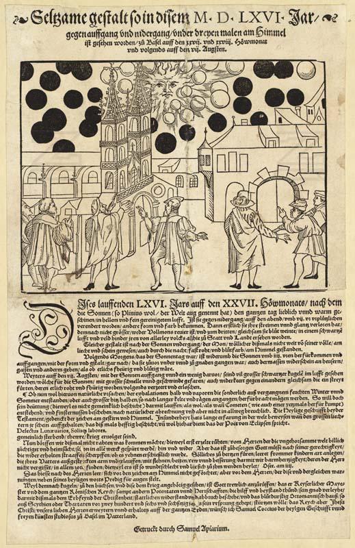 """Le """"Parchemin de Bâle"""" relatant l'évènement du 7 Aout 1566"""
