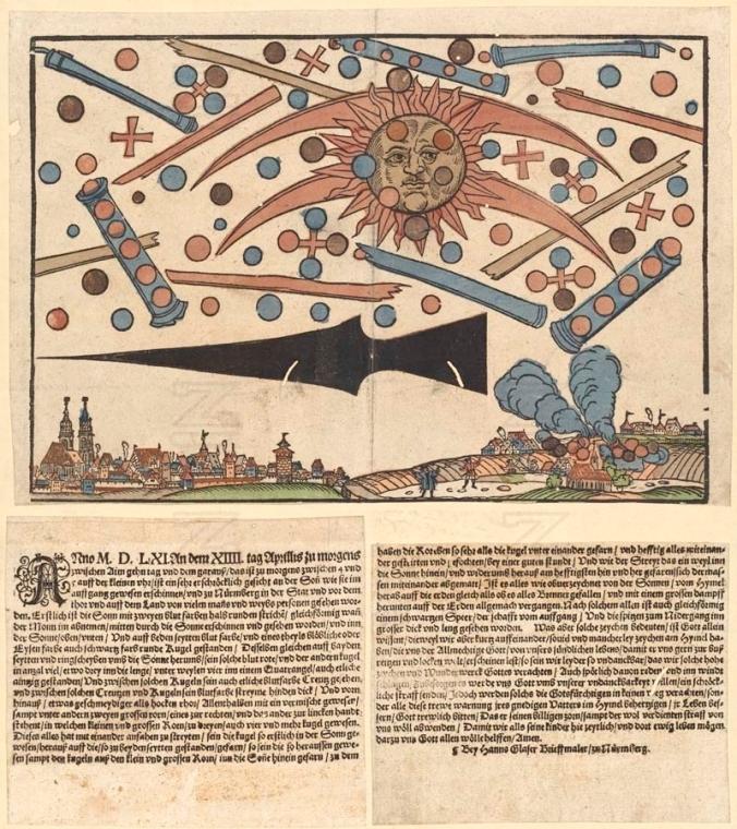 L'article et la gravure d'Hans Glaser, daté du 14 avril 1561