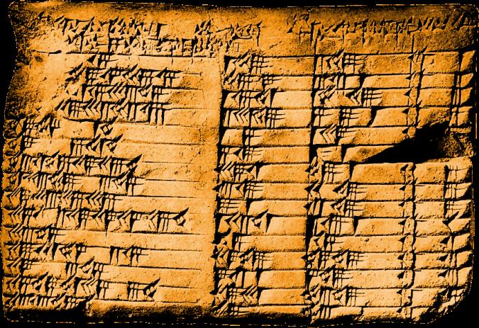 La tablette Plimpton 322, découverte en 1920, traduite en 1945
