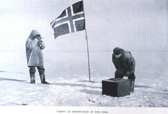 Amundsen au Pôle Sud (Source : http://www.southpolestation.com)